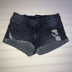 Hollister Ripped Jean Shorts